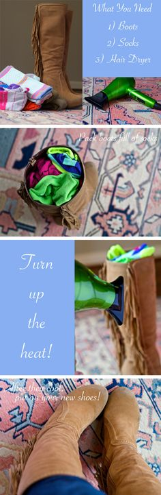DIY Shoe Stretch - I'll try this one.