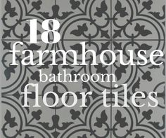 18 Incredible Farmhouse Bathroom Floor Tiles Are you looking for some farmhouse style to add to your home? I have 18 incredible farmhouse bathroom floor tiles that will transform your space! Farmhouse Flooring, Kitchen Flooring, Kitchen Dining, Rustic Floors, Garage Flooring, Farmhouse Renovation, Kitchen Wood, Kitchen Tips, Dining Rooms