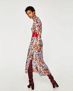 изображение 3 из ПЛАТЬЕ С ЦВЕТОЧНЫМ ПРИНТОМ от Zara