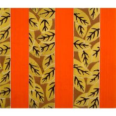 Check out this item at One Kings Lane! 1920s Gold Leaf Wallpaper Sample Art
