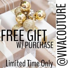 Ended FREE GIFT WITH PURCHASE LIMITED TIME ONLY Limited time only. FREE GIFT with all purchases   Of $50 or more while supplies last . Please comment for FREE GIFT at checkout under comments . Happy Holidays to you and your family . Thank you for your continued loyalty and business . Free People Pants Leggings