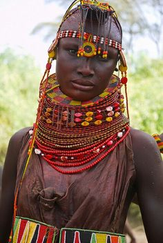 Turkana woman from Kenya,Afrika We Are The World, People Around The World, Around The Worlds, Black Is Beautiful, Beautiful World, Beautiful People, Cultures Du Monde, World Cultures, African Tribes