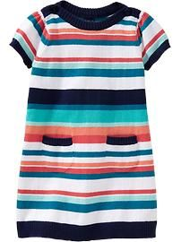 Boat-Neck Sweater Dresses for Baby