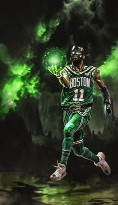 Basketball With Logo Mvp Basketball, Basketball Posters, Basketball Legends, Irving Wallpapers, Nba Wallpapers, Nba Pictures, Basketball Pictures, All Nba Players, Kyrie Irving Celtics