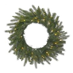 Vickerman 36 in. Dunhill Fir Pre-Lit Wreath with 100 Warm White Lights - A153437LED