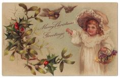 Thought to be an illustration by Harriett Mary Bennett - English - vintage postcard.