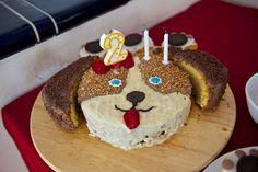 Geburtstagskuchen Hund. Puppy birthday cake.