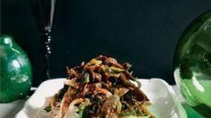 Oyster Mushrooms, black Fungi, Chicken & Rice Stick Noodles