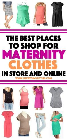Best Places to Shop for Maternity Clothes (In Store and Online!) The Best Places to Shop For Maternity Clothes (In Store and Online!): Awesome stores and sites to shop at so you can still look cute when pregnant! Maternity Shops, Cute Maternity Outfits, Maternity Fashion, Maternity Clothing Stores, Maternity Clothes Spring, Cheap Maternity Clothes Online, Maternity Swim, Online Clothes, Pregnancy Outfits