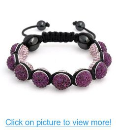 Valentines Day Gifts Bling Jewelry Shamballa Inspired Bracelet Purple  Crystal  Valentines  Day  Gifts 6006a47e3211e