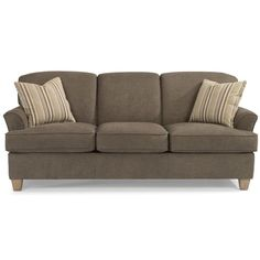 Flexsteel Atlantis Casual Sofa with Flared Arms at Sheely's Furniture & Appliance Sku: 5713-31