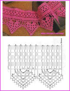 Modelos de barradinhos de crochê para toalhas , panos de copa,etc..
