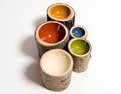 Log bowls #decor