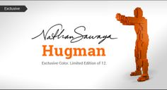 Orange Hugman by Nathan Sawaya. Limited Edition of 12. Benefiting Art Revolution. www.artofcraft.com www.artrevolution.org