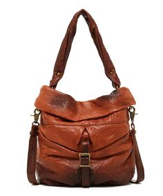 Look at this #zulilyfind! OLD TREND Camel Lotus Leather Bucket Bag by OLD TREND #zulilyfinds