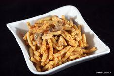 Macaroni au poulet, sauce champignons et St Moret [ cookeo ]