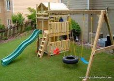 Resultado de imagen de ideas parque infantil palets