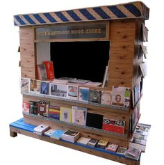 mattress book kiosk. don't know what I'd ever do with this, but it's excellent.