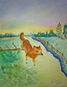 Blue Eyed Fox ~ Diane Geilnas Bad Art, Blue Eyes, Fox, Painting, Painting Art, Paintings, Painted Canvas, Foxes, Drawings