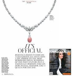 Mikimoto's Conch Pearl and Diamond Necklace was recently featured in Town and Country's April 2016 issue.