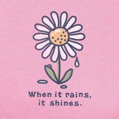Rain then shine, somewhere it's rainbow time...