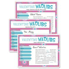 It can get a little crazy when kids turn almost-random words into a Mad Lib story! Three different printable Valentine's Day mad lib games. #funsational
