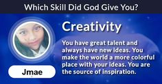 Which Skill Did God Give You ? Source Of Inspiration, Quizzes, God, How To Make, Wall, Dios, Quizes, Walls, Allah