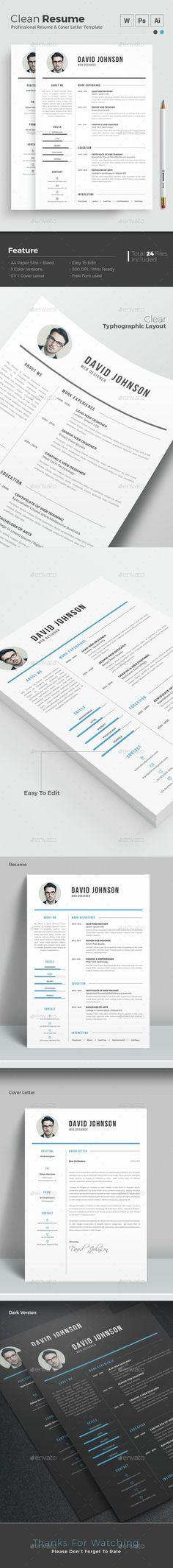 sample resume format Resume Pinterest Sample resume format - clean resume format