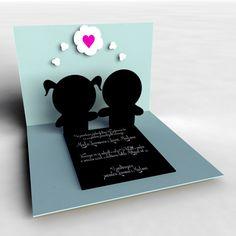 #Pop-up wedding invitation #ilustration