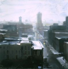 Chicago in Snow by Ben Aronson