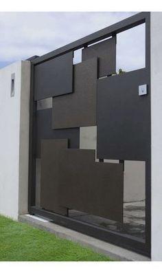 Doors•Gates•Fence Art | Iron Waves #fachadasminimalistas