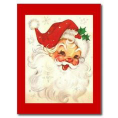 vintage Christmas love his jolly face Vintage Christmas Images, Vintage Holiday, Christmas Pictures, Merry Christmas Images, Vintage Images, Noel Christmas, Winter Christmas, Father Christmas, Christmas Fabric