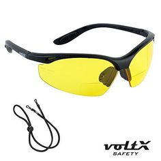voltX CONSTRUCTOR BIFOCAL Reading Safety Glasses CE EN166F certifiedCycling Sports Glasses YELLOW 15 Dioptre includes safety cord by voltX ** Read more reviews of the product by visiting the link on the image. This is an affiliate link.