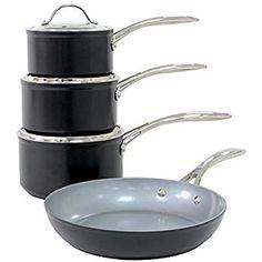 Batterie de cuisine inox compatible tous feux dont induction avec couvercles 3 pi/èces ProCook Professional Steel