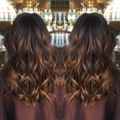 Thick Curls With Copper Streaks