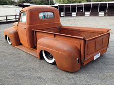 1950 ford hot rod pick up, Air ride , slammed, Ultimate rat truck, uper solid body Bagged Trucks, Hot Rod Trucks, Cool Trucks, Chevy Trucks, Pickup Trucks, Cool Cars, Dually Trucks, Truck Drivers, Semi Trucks
