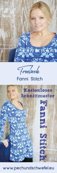 Free Instructions - Sewing Pattern Fanni Stitch - Isi Hartmann Kostenlose Anleitung - Schnittmuster Fanni Stitch Here is the step by step guide to the free sewing pattern Fanni Stitch. An everyday fit, figure-hugging dress for women. Sewing Patterns Free, Free Sewing, Dress Patterns, Free Pattern, Pattern Sewing, Sewing Clothes, Crochet Clothes, Diy Clothes, Casual Clothes