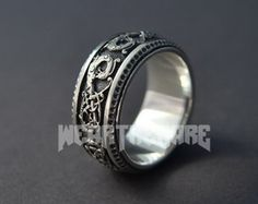 Norse Odin Viking Ring Scandinavian Norse Jewelry by WearTheRare