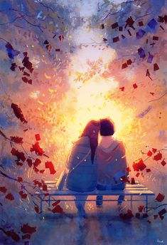 Atmospheric pictures of Pascal Campion, the French illustrator. It feels fine and perfectly conveys the autumn motives and emotions of people. It seems that love blooms in the autumn sun and becomes stronger). Love Cartoon Couple, Cute Love Cartoons, Cute Couple Art, Anime Love Couple, Cute Couple Wallpaper, Love Wallpaper, Cute Wallpaper Backgrounds, Cute Wallpapers, Instagram Png