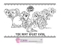My Little Pony Friendship Is Magic Royal Wedding Coloring Pages