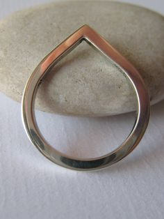 Sterling Silver Highly Polished Teardrop Ring.  by ZaZing on Etsy, $50.00