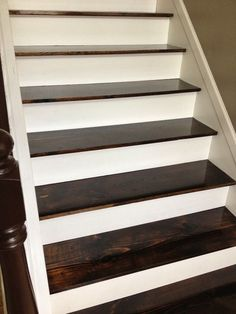 $60 Carpet to Hardwood Stair Remodel | The Serene Swede on Remodelaholic.com.