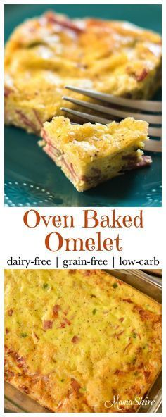 Easy to make Oven Baked Omelet. Perfect for breakfast, brunch, or for an easy dinner. Dairy-free, Grain-Free, Low-Carb,THM-S.