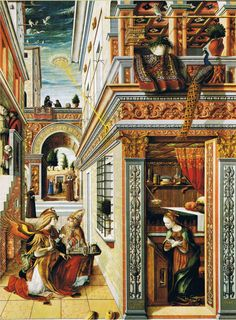 CARLO CRIVELLI  Annunciation with Saint Emidius    Completion Date: 1486  Style: Early Renaissance  Genre: religious painting  Technique: oil, tempera