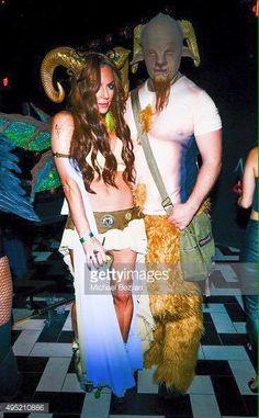 Nathan Fillion & Krista Allen at Halloween party (2015).