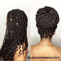 Goddess Faux Locs done by London's Beautii in Bowie, Maryland. www.styleseat.com/v/londonsbeautii Loc Cuffs handmade by @londonsbeautiiaccessories https://www.instagram.com/londonsbeautiiaccessories/