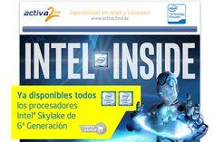 Activa 2mil ya tiene disponible todos los procesadores Intel