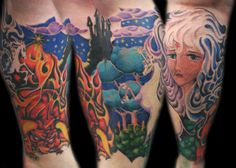 The last unicorn leg sleeve Tattoo by crutch623, via Flickr