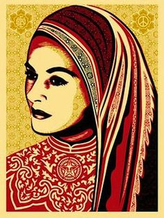 SHEPARD FAIREY - PEACE WOMAN - GREGG SHIENBAUM FINE ART MIAMI http://www.widewalls.ch/artwork/shepard-fairey/peace-woman/