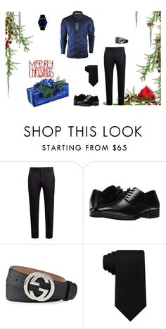 """""""Merry XMas R Sunday"""" by zsugabubus ❤ liked on Polyvore featuring Marni, Stacy Adams, Gucci, Tommy Hilfiger, Movado, men's fashion and menswear"""